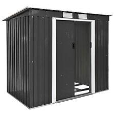 Box casetta metallo per giardino serra per attrezzi capannone + fondazione gris