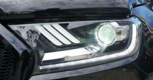 Ford Ranger Raptor Mustang Style Headlights with Red Angel Eye Wildtrak