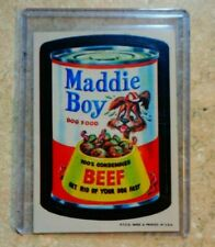 "1973 1st Series Wacky Packages Sticker ""Maddie Boy"" Dog Food"