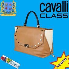 ROBERTO Cavalli Class Borsa DONNA Mano Tracolla  Shopper JET SET COGNAC-BLACK