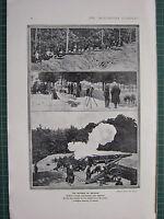 1914 WWI WW1 Aufdruck ~ The Defence Von Belgien Truppen Nahe Malines Batterie