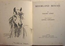 Moorland Mousie illustrated Lionel Edwards 1937 Exmoor Pony Horses book Gorse