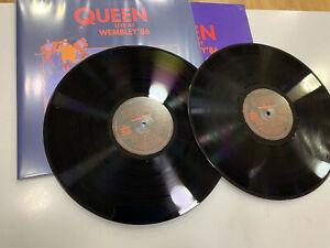 QUEEN 2 LP LIVE AT WEMBLEY BLACK VINYL