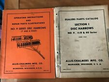 Allis Chalmers Operating Inst Amp Repair Parts Illustrations Sec 1 Disc Harrows