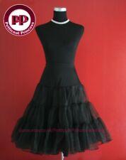 "Lady 50's BLACK Underskirt Rock n' Roll Petticoat / TUTU 26"" FREE P&P"