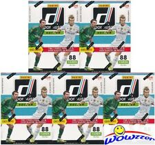 (5) 2016 Donruss Soccer EXCLUSIVE Blaster Boxes-Purple Parallels-PULISIC RC Yr!