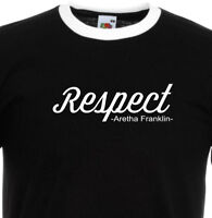 Aretha Franklin RESPECT Soul Music R&B 60s 1394 Ringer T Shirt.