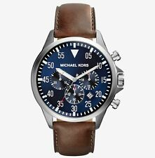 Michael Kors MK8362 Men's Gage  Chronograph Stainless Steel Brown Leather Strap