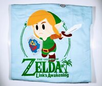Nintendo Zelda Links Awakening Mens XL Light Blue Graphic TShirt New With Tags