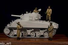 WWII US Tank Crew big set (4 resin figures) 1:35 Hunikum 35009