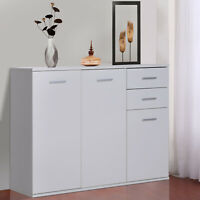 Free Standing Storage Cabinet Console Sideboard Table Entryway Organizer Living
