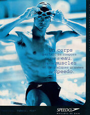 Publicité 1998  SPEEDO maillot de bain vetement collection mode
