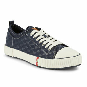 Levi's Mens 501 Crt Lo Monogram Vegan Denim Lowtop Lace-up Sneaker Shoe