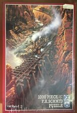 BLACK CANYON EXPRESS 1000 piece Schmid Puzzle Locomotive over Bridge Water NEW