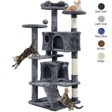 138cm 2-Condo Cat Tree Tower Cat with Kitten Scratching Post/Perch/Ladder/ Toy