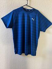 Puma Aqua Blue Running Performance Shirt XXL