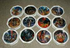 Lot-12 Royal Doulton Franklin Mint Wizards & Dragons Collector Plates w/Crystal