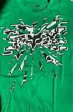FOX Shattered Logo Mens Green Short Sleeve T-Shirt Cotton Size XL Vintage NWT