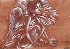 original painting A3 203RI art by samovar acrylic Modern naked angel