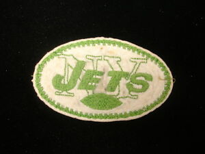 Early 1960's New York Jets Football Patch – 3 + 1/2″ x 2″