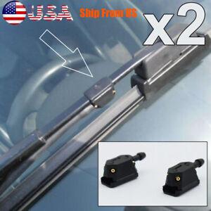 2Pcs Universal Auto Car Front Windshield Washer Wiper Spray Nozzle Set Black US