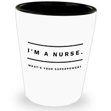 Funny Nursing Student Shot Glass Us Tequila Glasses For Friends Nurse Superpower