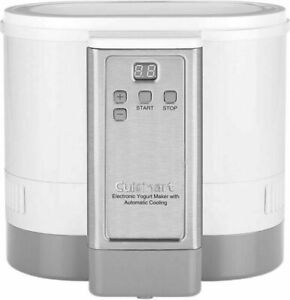 New Cuisinart CYM-100 Electronic Yogurt Maker Automatic Cooling 3.12lb Digital