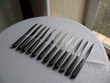 Christofle 12 couteaux à dessert lame inox manche bois