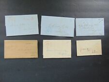 6 CONNECTICUT STAMPLESS FOLDED LETTERS with CONTENT - CONNECTICUT POSTMARKS