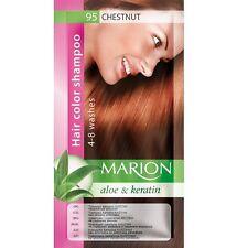 MARION HAIR COLOR SHAMPOO IN SACHET (lasting 4-8 washes)WITH ALOE VERA & KERATIN