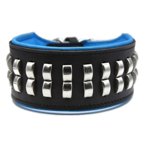 "3"" Wide Studded Dog Collar Real Leather Pet Collar For Large Breeds Heavy Duty"