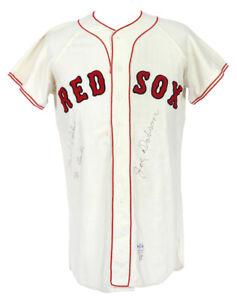 Boston Red Sox Used Worn Vintage Flannel Baseball Jersey McAuliffe c1966-67