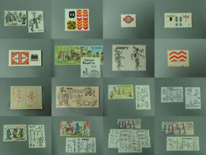 STECKIS: Versch. Beipackzettel BPZ & Folienaufkleber AKF D bis 1992 zur Auswahl