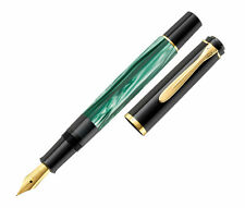 Pelikan M200 Fountain Pen Green Marbled Fine Point New in box