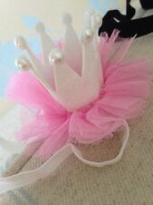 Pink/ Baby Crown Head Band . Fancy Baby Head Band . Party Head Band. Black / Red