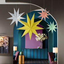 3D Paper 9 Point Star Christmas Halloween Party Hanging Decoration 11 Colors