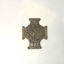 Sammlungsauflösung religiöse Volkskunst hochwertiges Kreuz Wandkreuz Bronze (13)
