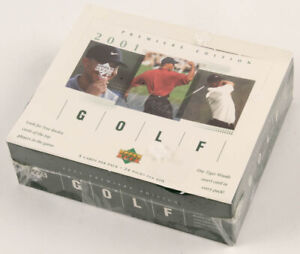 2001 Upper Deck Golf Factory Sealed RETAIL BOX POSSIBLE Tiger Woods Rookie,Etc.