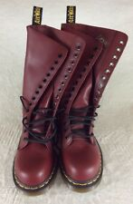 New! DR. MARTENS Boots Original Cherry Red Steel Toe Boots 1940 Women's US 5