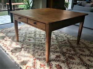 Antique French farmhouse table, kitchen, dining