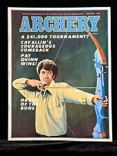 VINTAGE COLLECTIBLE Archery Magazine FEBRUARY 1976 Archery & Hunting