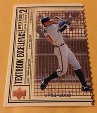 1999 Chipper Jone UD Textbook Excellence Die Cut #1753/2000 Card Nr/Mt-Mt