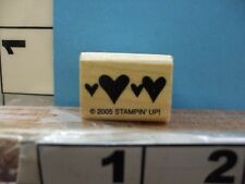 stampin up 2005 bold solid heart border valentines love rubber stamp 5D