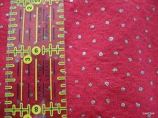 Christmas Polka dot cotton fabric JoAnn red gold dots half yard cut 1/2