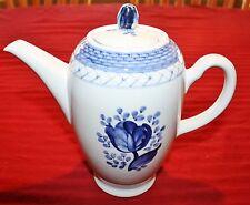 Royal Copenhagen Tranquebar Blue Rose 4 Cup Coffee Pot & Lid  Denmark