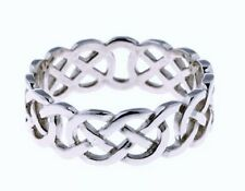 Sterling Silver Celtic Wedding Band CWO8S - Size V