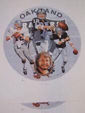 KEN STABLER HOF SnakeBit AUTOGRAPHED litho SUPER BOWL XI Oakland Raiders SIGNED!