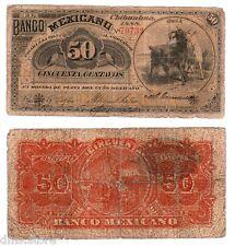 Mexico 50 Centavos  Banco Mexicano 1888 S-152