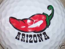 (1) ARIZONA STATE LOGO GOLF BALL (Red Chili Pepper)