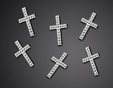 100 Stk Deko Kreuze Kommunion Konfirmation Streudeko Tischdeko Dekokreuze Taufe